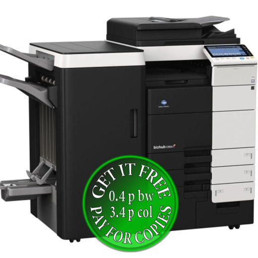 Colour Copier Lease Rental Offer Konica Minolta Bizhub C654 4x Cassettes DF-701 FS-535