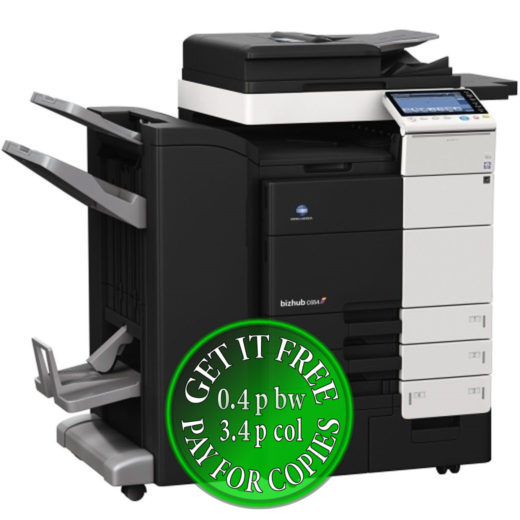 Colour Copier Lease Rental Offer Konica Minolta Bizhub C654 4x Cassettes DF-701 WT-506 FS-534