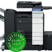 Colour Copier Lease Rental Offer Konica Minolta Bizhub C754 FS 534 SD 511 WT 506 LU 301 Front