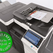 Colour Copier Lease Rental Offer Konica Minolta Bizhub C754 Office Document Feeder Staple Finisher