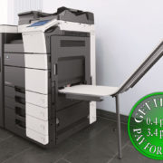 Colour Copier Lease Rental Offer Konica Minolta Bizhub C754 Office Finisher Banners Printing