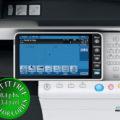 Colour Copier Lease Rental Offer Konica Minolta Bizhub C754 Panel Opened Overhead