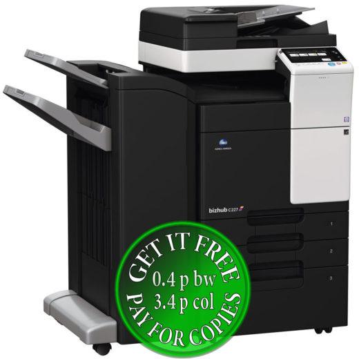 Colour Copier Lease Rental Offer Konica Minolta Bizhub C227 DF 628 FS 534 PC 414 Left bundle