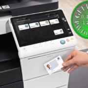 Colour Copier Lease Rental Offer Konica Minolta Bizhub C227 Office Security Card Authentication