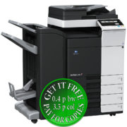 Colour Copier Lease Rental Offer Konica Minolta Bizhub C258 DF-704 FS-534SD PC-210 Left