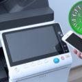 Colour Copier Lease Rental Offer Konica Minolta Bizhub C258 Panel Front Smartphone Control Authentication