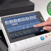 Colour Copier Lease Rental Offer Konica Minolta Bizhub C258 Panel Front Touch Control