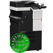 Colour Copier Lease Rental Offer Konica Minolta Bizhub C287 DF 628 FS 533 PC 414 WT 506 AU 102 Left