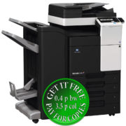 Colour Copier Lease Rental Offer Konica Minolta Bizhub C287 DF 628 FS 534SD PC 214 KP 101 Left