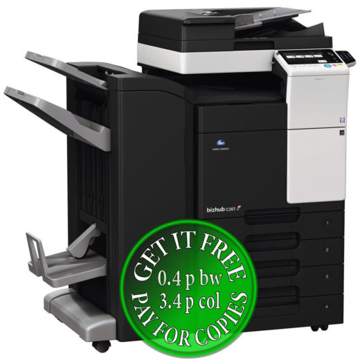 Colour Copier Lease Rental Offer Konica Minolta Bizhub C287 DF 628 FS 534SD PC 214 KP 101 Left bundle