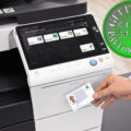 Colour Copier Lease Rental Offer Konica Minolta Bizhub C458 Office Security Card Authentication