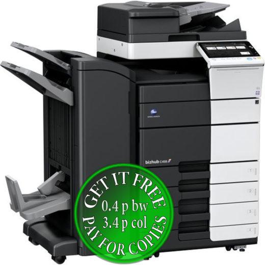Colour Copier Lease Rental Offer Konica Minolta Bizhub C458 RU 513 FS 536SD PC 215 bundle