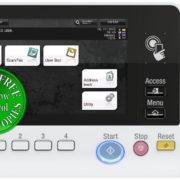 Colour Copier Lease Rental Offer Konica Minolta Bizhub C3351 Panel