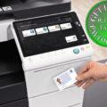 Colour Copier Lease Rental Offer Konica Minolta Bizhub C558 Office Security Card Authentication
