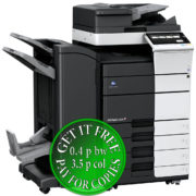 Colour Copier Lease Rental Offer Konica Minolta Bizhub C558 RU 513 FS 536SD PC 215 Left