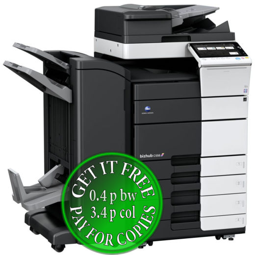 Colour Copier Lease Rental Offer Konica Minolta Bizhub C558 RU 513 FS 536SD PC 215 Left bundle