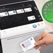 Colour Copier Lease Rental Offer Konica Minolta Bizhub C658 Office Security Card Authentication