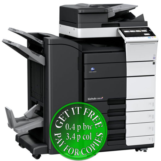 Colour Copier Lease Rental Offer Konica Minolta Bizhub C658 RU-513 FS-536SD PC-215 Left