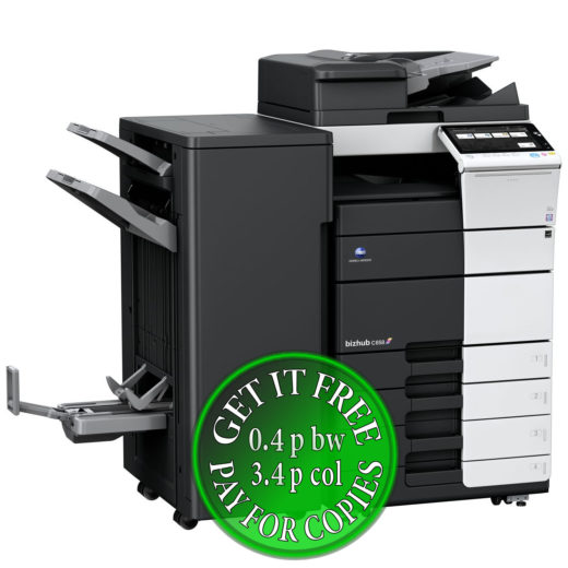 Colour Copier Lease Rental Offer Konica Minolta Bizhub C658 RU-513 FS-537SD PC-215 Left