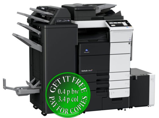 Colour Copier Lease Rental Offer Konica Minolta Bizhub C759 RU 515 FS 537SD PI 507 LU 303 Left