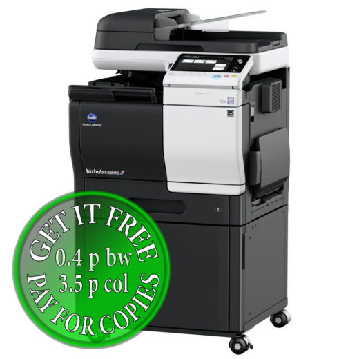 Colour Copier Lease Rental Offer Konica Minolta Bizhub C3851FS DK P03 Right
