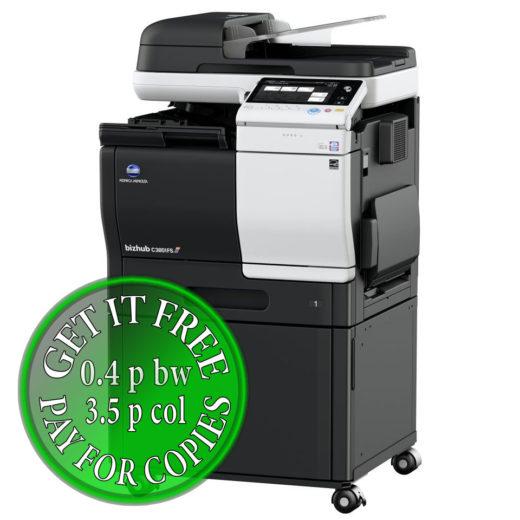 Colour Copier Lease Rental Offer Konica Minolta Bizhub C3851FS DK P03 Right