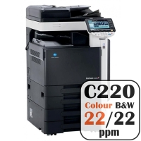 Colour Copier Lease Rental Offer Konica Minolta Bizhub C220 22 ppm