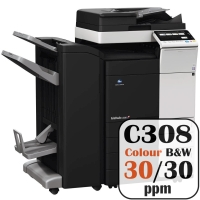 Colour Copier Lease Rental Offer Konica Minolta Bizhub C308 30 ppm