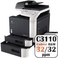 Colour Copier Lease Rental Offer Konica Minolta Bizhub C3110 32 ppm