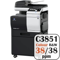 Colour Copier Lease Rental Offer Konica Minolta Bizhub C3851 38 ppm