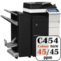 Colour Copier Lease Rental Offer Konica Minolta Bizhub C454 45 ppm