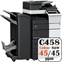Colour Copier Lease Rental Offer Konica Minolta Bizhub C458 45 ppm