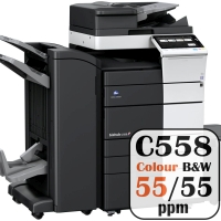 Colour Copier Lease Rental Offer Konica Minolta Bizhub C558 55 ppm